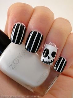 Edgy nails by I Feel Polished.