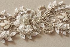 intricate sash made from pearls & swarovski crystals #HollywoodGlam