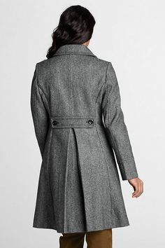 Women's Plus Size Pattern Wool Swing Car Coat from Lands' End ...