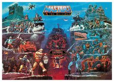 Masters Of The Universe Paintings By Earl Norem, William George and Esteban Maroto Master Of The Universe, Universe Art, Gi Joe, Masters, Cartoon Toys, Cartoon Art, She Ra Princess Of Power, Classic Paintings, Retro Toys