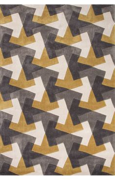 $5 Off when you share! Jaipur Rugs Fusion Tesselation Gold Rug #RugsUSA