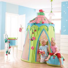 Play Tent ...I love both, but i think this is my favorite...will have to ask Emily which one she likes more!
