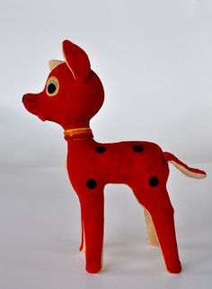 Vintage Rudolph Reindeer Stuffed Retro Christmas Decoration --SOLD-- See more items in FairyLynne's shop: http://www.etsy.com/shop/FairyLynne