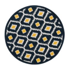 Terrace Navy/Lemon Area Rug