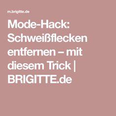 Mode-Hack: Schweißflecken entfernen – mit diesem Trick | BRIGITTE.de