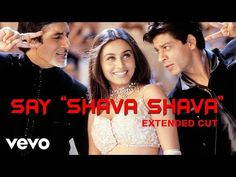 Watch both Bollywood Badshahs - Amitabh Bachchan and Shah Rukh Khan shake a leg in this punjabi folk based song from the film 'Kabhi Khushi Kabhie Gham', abl. Shahrukh Khan And Kajol, Shah Rukh Khan Movies, Bollywood Music Videos, Bollywood Movie Songs, Hit Songs, Music Songs, Hindi Dance Songs, Indian Music, Star Wars