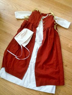 Custom Baby or Toddler Renaissance Costume: includes chemise or shift, hat, and overdress; Renaissance Costume or Historical Reenactment Renaissance Festival Costumes, Medieval Costume, Viking Clothing, Historical Clothing, Renissance Festival, Larp, Family Costumes, Baby Costumes, Kids Outfits