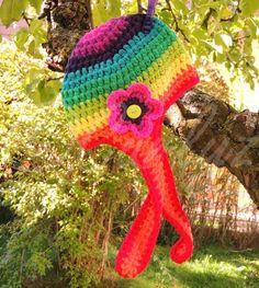 Regenbogen Häkelmütze