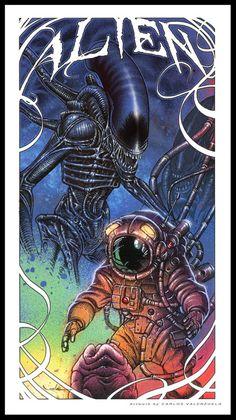 thehappysorceress:Alien by Carlos Valenzuela