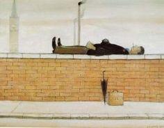 Man Lying On A Wall, 1957 Prints by Laurence Stephen Lowry Spencer, English Artists, British Artists, Canvas Prints, Art Prints, Canvas Art, Framed Prints, Art Uk, Naive Art