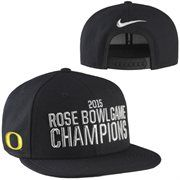 Oregon Ducks Nike 2015 Rose Bowl Champions Player's Locker Room Adjustable Hat – Black