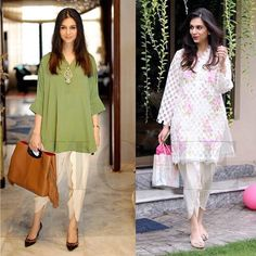 looks every bit a movie star in her dressed two ways Stylish Dress Designs, Stylish Dresses, Simple Dresses, Casual Dresses, Fashion Dresses, Kaftan Designs, Blouse Designs, Pakistani Outfits, Indian Outfits