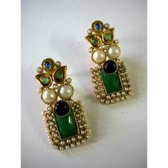 Online Shopping for smart pearl polki earring Gold Jhumka Earrings, Jewelry Design Earrings, Gold Earrings Designs, Ear Jewelry, Silver Jewelry, Silver Rings, Fancy Jewellery, Gold Jewellery Design, Simple Jewelry