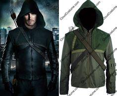Green Arrow costume Oliver Queen cosplay costume Arrow hoodie Halloween costume