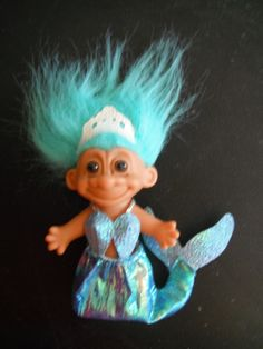 """3 5"""" Troll Dolls *Mermaid* I have one from Seattle when I was a kid!"""