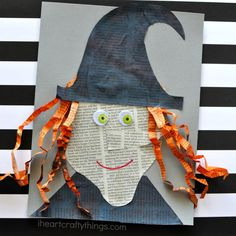 Creative Newspaper Witch Craft | I Heart Crafty Things