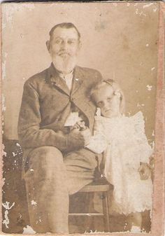 Bill Jones with his Granddaughter Bessie Jones c1903 , South Mills, Camden Co, NC    William Sawyer Jones  father-in-law of 2nd cousin 2x removed  Birth 28 Jul 1838 in South Mills, Camden, North Carolina, United States  Death 16 Jan 1914 in South Mills, Camden, North Carolina, United State