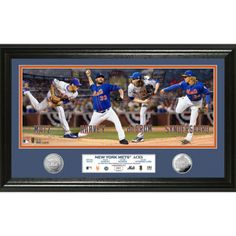 """Mets Highland MintAces Silver Coin Panoramic 12"""" x 20"""" Photomint"""