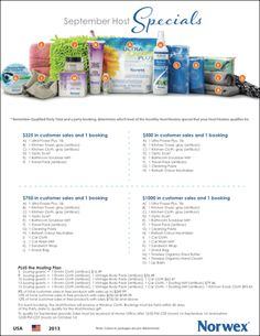 Specials & Sales this moth with Norwex natural cleaning products