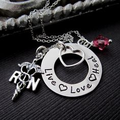RN Necklace Jewelry by ShinyMetals ... Love this!