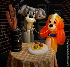 Twisted Cinema – Lady and the Tramp By Rob Driscoll at http://www.mydailyballoon.com/twisted-cinema-lady-and-the-tramp/