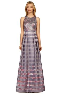 Kay Unger Sequin Mesh & Silk Blend Ballgown available at #Nordstrom