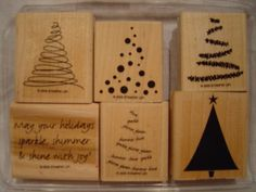 Trim the Tree Stampin' Up Rubber Stamp Set. $15.00, via Etsy.