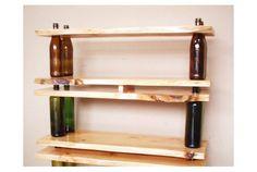 DIY shelf.      空になったお酒のボトルが増えるごとに「あぁ、またこんなに飲んで、肝臓をいじめてしまった…」と反省してみたり、「いやぁ、今週も飲ん...