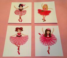 BALLET BALLERINA PRINCESS for PINK BROWN NURSERY BEDDING KIDS GIRLS ART PRINTS