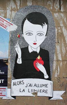 #fredlechevalier #streetart  Fred le Chevalier.