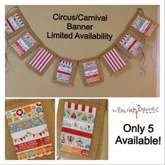 Circus/Carnival Banner - Burlap Banner - Limited Availability - Photo Prop - Event Banner - Home/Room Decor on Etsy, $48.00