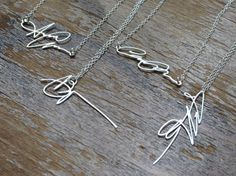So genius - custom keepsake necklaces made from your own signature!