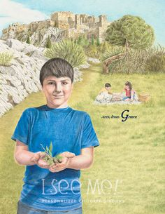 """Greece - As featured in """"My Very Own World Adventure"""" personalized children's book by I See Me!"""