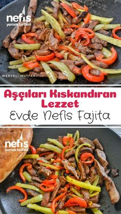 Et Fajita (Aşçıları Kıskandıran Lezzet) – Nefis Yemek Tarifleri How to make a Meat Fajita Recipe? Illustrated explanation of this recipe in book and photographs of those who try it are here. Yummy Recipes, Meat Recipes, Yummy Food, Healthy Recipes, Beef Fajita Recipe, Fajita Rezept, Chefs, Turkish Recipes, Ethnic Recipes