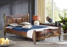 RAPUNZEL Bett #21 - 140x200cm Indisches Altholz lack.