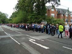 Waiting for the torch