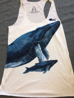 Mother and Baby Whale Tank Top by Bear Dance. This Tank is sooo cute on! If you Whales you will Love this Tank! Available in Ivory