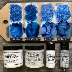 Alcohol Ink Glass, Alcohol Ink Crafts, Alcohol Ink Painting, Distress Ink Techniques, Art Journal Techniques, Embossing Techniques, Ink Stamps, Copics, Resin Crafts