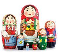 "International Toys - СУВЕНИРЫ ИЗ РОССИИ - МАТРЁШКИ | ""С золотым петушком"" | - Kids World On-Line - Russian toys best price to buy"