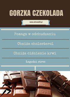 gorzka czekolada właściwości Healthy Tips, Healthy Eating, Healthy Recipes, Hot Chocolate, Sick, Paleo, Food And Drink, Yummy Food, Vegan