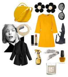 """""""Sunny December"""" by emmetu on Polyvore featuring Dolce&Gabbana, L. Erickson, P.A.R.O.S.H., Nico Giani, Marc Jacobs, Parasol, Amrita Singh, J.Crew, Moschino and Gucci"""