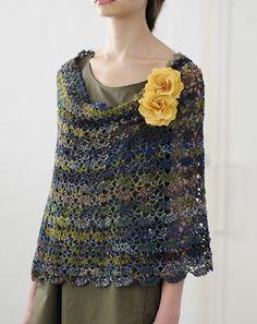 2way crochet cape snood