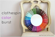 A colorful and crafty way to create an accent mirror.