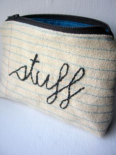 zippered pouch - great gifts too  line with plastic from shower curtain for make up or overnight pouch