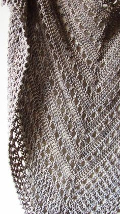 Best 12 Northern Sea is a triangular shape shawl crocheted from the top down. It starts from the eyelet rows and ends with a textured knitted-look border made of crossed stitches. Size is easily adjustable by skippingadding more repeats both in eyelet and Shawl Crochet, Crochet Shawls And Wraps, Crochet Scarves, Crochet Clothes, Crochet Stitches, Free Crochet, Knit Crochet, Crochet Hats, Ravelry Crochet