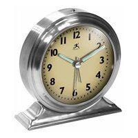 10415-1264 Boutique Silver Alarm  Clock