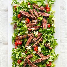Steak Salad with Tomato and Blue Cheese Recipe   MyRecipes.com Mobile