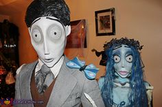 Handmade Corpse Bride Costumes - Halloween Costume Contest via @costumeworks