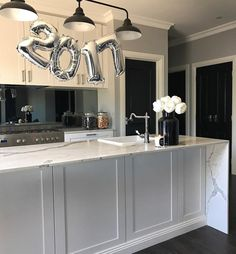 Happy New Year! #kitchen #marble #interiordesign @kaylabombardier