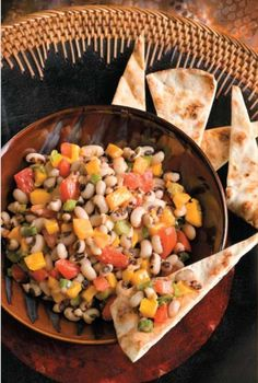 mango and blackeye pea salsa